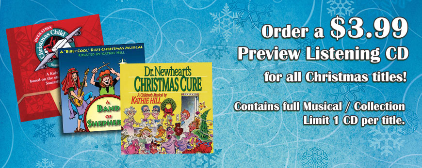 Order $3.99 Christmas Musical Preview Listening CDs