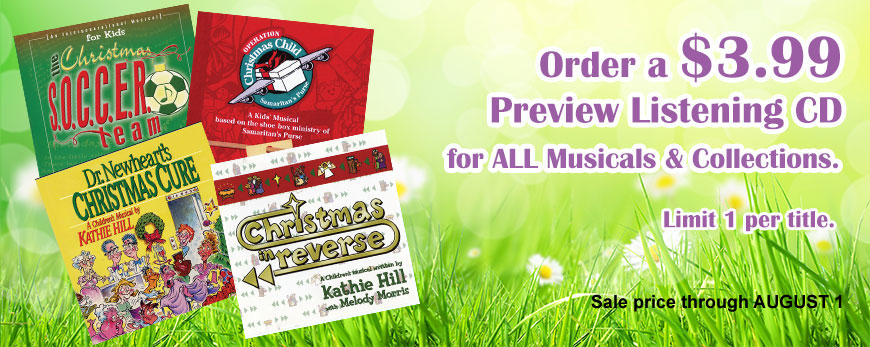 Order $3.99 Musical Preview Listening CDs